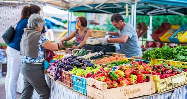 Le marché écologique de la Plaza de los Patines à Palma de Majorque
