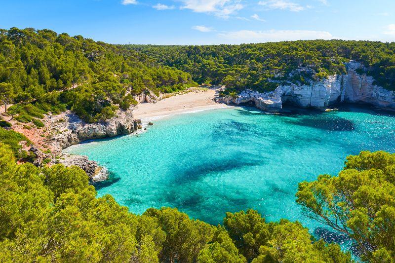 Les plus belles plages de la côte Sud de Minorque